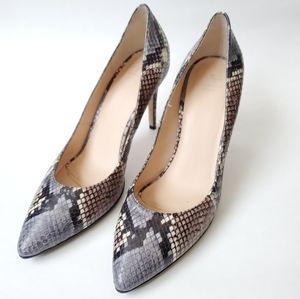 Aquatalia Snakeskin Stilettos High Heels
